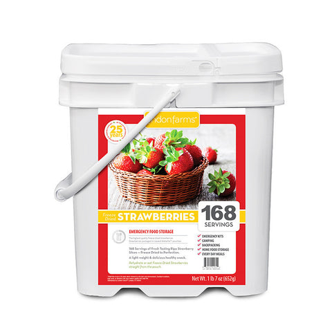 Freeze Dried Strawberries Food Storage (168 Servings)