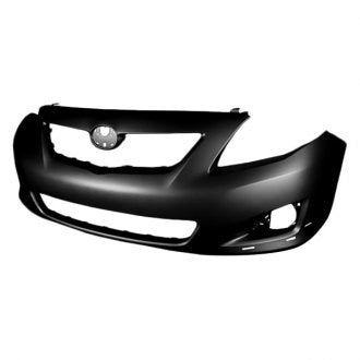 TOYOTA COROLLA 09-10 FRONT BUMPER PRIMED S/XRS MODEL WITH SPOILER HOLE CAPA