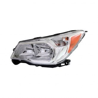 SUBARU FORESTER 14-16 FRONT DRIVER SIDE HEADLIGHT HALOGEN 2.5L WITH CHROME BEZEL HQ