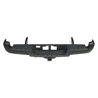 TOYOTA TACOMA PICKUP AWD/RWD 16-19 REAR BUMPER WITH TOW HOOK WITH OUT SENSOR HOLE BLACK