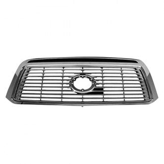 TOYOTA TUNDRA PICKUP 10-13 FRONT GRILLE CHROME WITH SILVER BILLET INSERT LTD MODEL