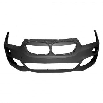 BMW X1 16-19 FRONT BUMPER PRIMED WITHOUT PARK ASSIST/ PARK DISTANCE / WASHER / M PKG