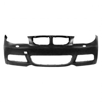 BMW 1 SERIES 08-13 FRONT BUMPER PRIMED WITH WASHER HOLE WITHOUT SENSOR HOLE (( WITH M PKG )) CAPA