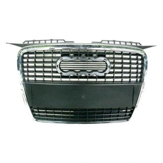 AUDI A3 06-08 FRONT GRILLE WITHOUT SPORTS PKG ( CHROME PRIMED BLACK)