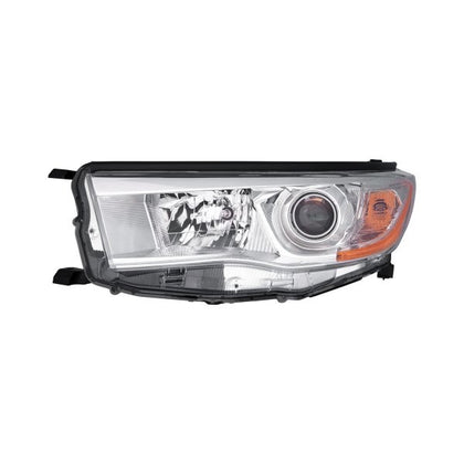TOYOTA HIGHLANDER 14-16 HEAD LAMP DRIVER SIDE WITH BRIGHT CHROME BEZEL HQ