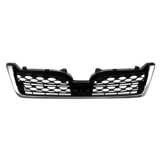 SUBARU FORESTER 14-16 FRONT GRILLE MATTE DARK GRAY WITH CHROME MOLDING 2.5L TURBO ( BUMPER MOUNTED)