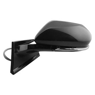 TOYOTA PRIUS 16-18 DRIVER SIDE DOOR MIRROR POWER HTD GLOSS BLACK COVER WITH OUT BLIND SPOT