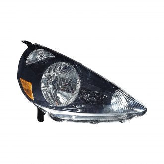 HONDA FIT 07-08 PASSENGER SIDE HEAD LAMP BLACK HQ