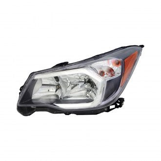 SUBARU FORESTER 14-16 FRONT DRIVER SIDE HEAD LAMP HALOGEN 2.0L WITH GRAY BEZEL HQ