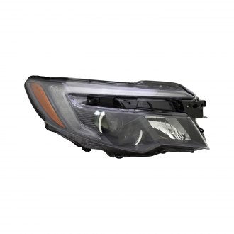HONDA RIDGELINE 17-19 // HONDA PILOT 16-19 // PASSENGER SIDE HEAD LAMP HALOGEN WITH LED DAYTIME RUNNING LAMP AUTO ON/OFF HQ