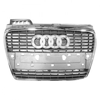 AUDI A4-S4 05-08 // A4 - S4 CABRIO CONVERTIBLE 07-09 FRONT GRILLE CHROME PRIMED BLACK (( WITHOUT S- LINE PKG ))