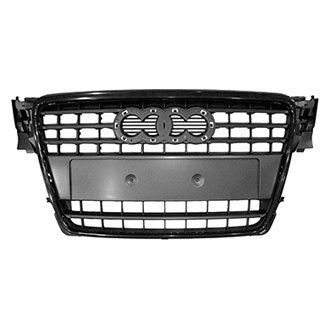 AUDI A4 09-12 FRONT GRILLE BLACK WITH BLACK FRAME