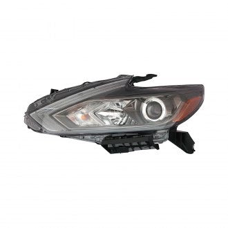 NISSAN ALTIMA SEDAN 16-18 DRIVER SIDE HEAD LAMP HALOGEN WITH BLACK BEZEL /// WITH OUT LED AND DAYTIME RUNNING LAMP HQ