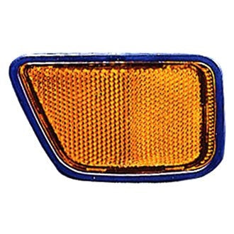 HONDA CRV 97-01 FRONT PASSENGER REFELECTOR ON THE BUMPER YELLOW
