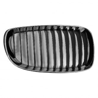 BMW 1 SERIES 08-13 DRIVER SIDE GRILLE CHROME BLACK COUPE & SEDAN