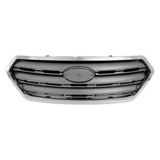 SUBARU LEGACY OUTBACK 15-17 FRONT GRILLE PAINTED SILVER GRAY WITH CHROME MOLDING