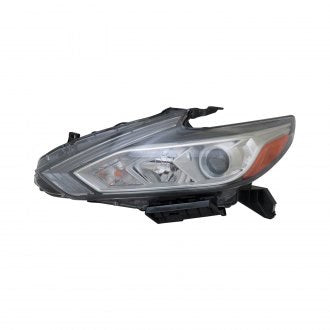 NISSAN ALTIMA SEDAN 16-18 DRIVER SIDE HEAD LAMP HALOGEN WITH CHROME BEZEL /// WITHOUT LED DAYTIME RUNNING LIGHT