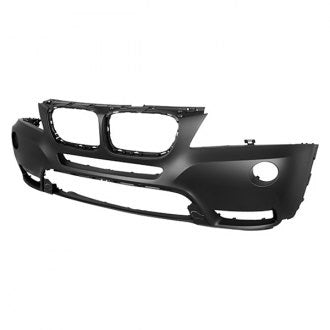 BMW 11-14 FRONT BUMPER PRIMED WITHOUT HEADLIGHT WASHER WITHOUT M PKG