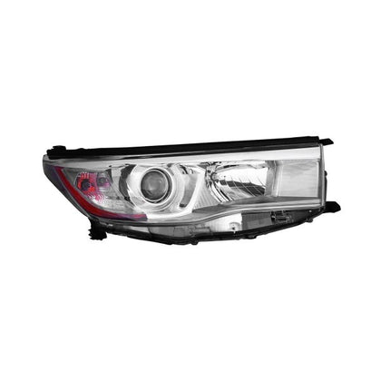 TOYOTA HIGHLANDER 14-16 HEAD LAMP PASSENGER SIDE WITH SMOKED CHROME BEZEL HQ