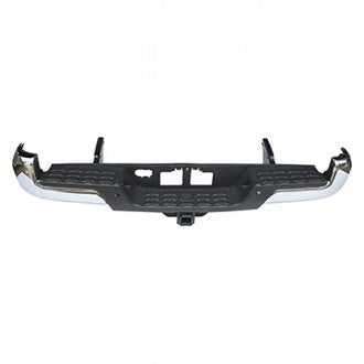 TOYOTA TACOMA PICKUP AWD/RWD 16-19 REAR BUMPER WITH TOW HOOK WITH OUT SENSOR HOLE CHROME