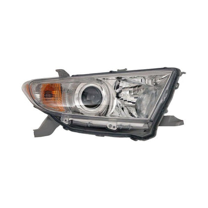 TOYOTA HIGHLANDER 11-13 HEAD LAMP PASSENGER SIDE EXCLUDE HYB HQ