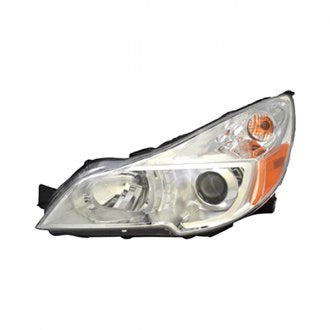 SUBARU LEGACY OUTBACK 12-14 DRIVER SIDE HEAD LAMP WITH CHROME BEZEL HQ