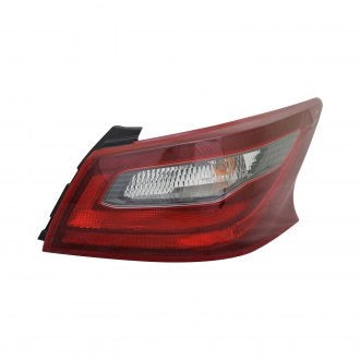 NISSAN ALTIMA SEDAN 17-18 PASSENGER SIDE TAIL LAMP SR MODEL WITH DARK RED BEZEL HQ