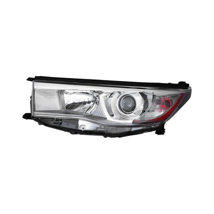TOYOTA HIGHLANDER 14-16 HEAD LAMP DRIVER SIDE WITH SMOKED CHROME BEZEL HQ