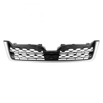 SUBARU FORESTER 14-16 FRONT GRILLE 2.5L MATTE DARK GRAY/WITH PAINTED GRAY MOLDING