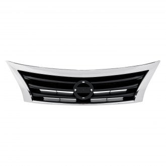 NISSAN ALTIMA SEDAN 13-15 FRONT GRILLE BLACK WITH CHROME FRAME
