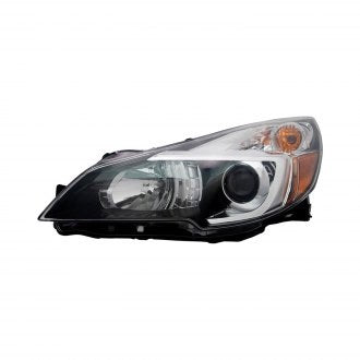SUBARU LEGACY SEDAN & OUTBACK 13-14 DRIVER SIDE HEAD LAMP WITH BLACK BEZEL HQ