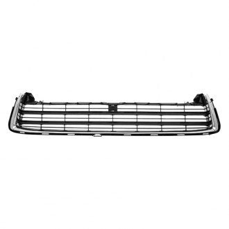 TOYOTA HIGHLANDER 14-16 FRONT LOWER GRILLE PAINTED DARK GRAY WITH CHROME MOLDING