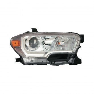 TOYOTA TACOMA PICKUP 16-19 AWD/RWD PASSENGER SIDE HEAD LAMP HALOGEN CHROME WITH OUT LED DRL HQ