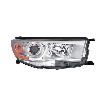 TOYOTA HIGHLANDER 14-16 HEAD LAMP PASSENGER SIDE WITH BRIGHT CHROME BEZEL HQ
