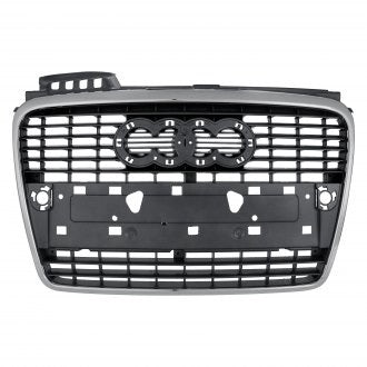AUDI A4 09-12 FRONT GRILLE GRAY