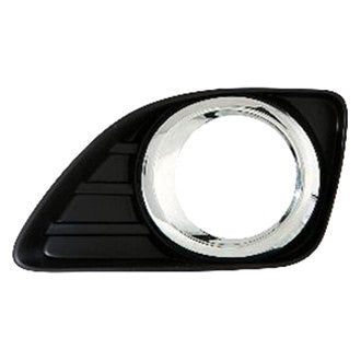 TOYOTA CAMRY 2010 FOG DRIVER SIDE LIGHT BEZEL WITH HOLE AND CHROME RING
