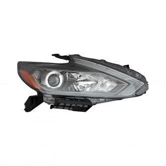 NISSAN ALTIMA SEDAN 16-18 PASSENGER SIDE HEAD LAMP HALOGEN WITH BLACK BEZEL /// WITH OUT LED AND DAYTIME RUNNING LAMP HQ