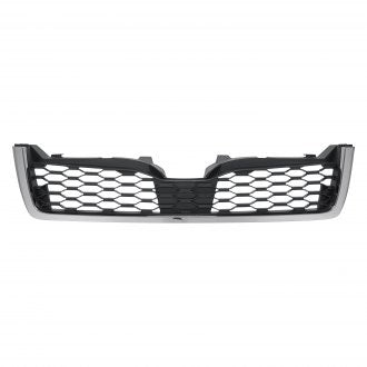 SUBARU FORESTER 14-16 FRONT GRILLE MATTE DARK GRAY WITH CHROME MOLDING 2.0L TURBO ( BUMPER MOUNTED)