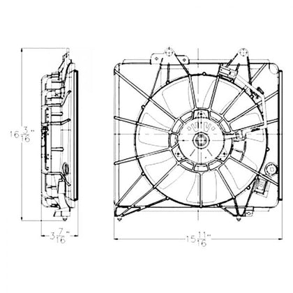 HONDA FIT 09-14 AC FAN ASSEMBLY A/ T