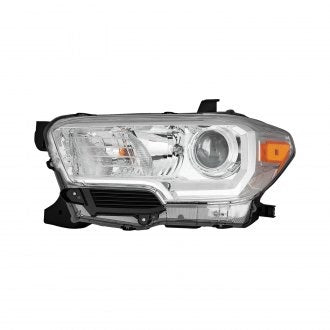 TOYOTA TACOMA PICKUP 16-19 AWD/RWD DRIVER SIDE HEAD LAMP HALOGEN CHROME WITH OUT LED DRL HQ