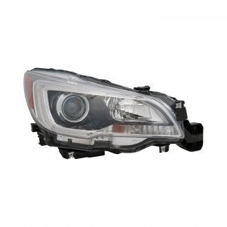 SUBARU LEGACY & OUTBACK 15-17 PASSENGER SIDE HEAD LAMP HALOGEN WITH BLACK BEZEL/CHROME TRIM 3.6L HQ