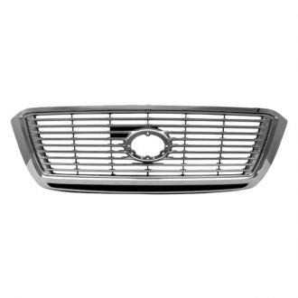 TOYOTA TUNDRA PICKUP 10-13 FRONT GRILLE LTD/PLATINUM MODEL WITHOUT SPORT PKG CHROME WITH SILVER BILLET INSERT