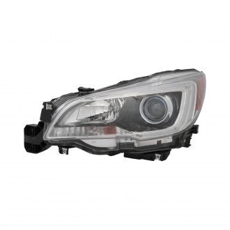 SUBARU LEGACY & OUTBACK 15-17 DRIVER SIDE HEAD LAMP HALOGEN WITH BLACK BEZEL/CHROME TRIM 3.6L HQ