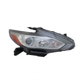 NISSAN ALTIMA SEDAN 16-18 PASSENGER SIDE HEAD LAMP HALOGEN WITH CHROME BEZEL /// WITHOUT LED DAYTIME RUNNING LIGHT