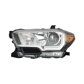 TOYOTA TACOMA PICKUP 16-19 AWD/RWD DRIVER SIDE HEADLIGHT HALOGEN BLACK/CHROME BEZEL WITHOUT LED DRL HQ