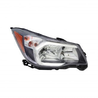 SUBARU FORESTER 14-16 FRONT PASSENGER SIDE HEAD LAMP HALOGEN 2.0L WITH GRAY BEZEL HQ
