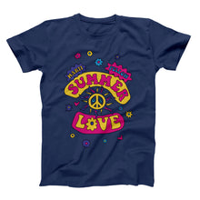 Load image into Gallery viewer, Summer of Love T-Shirt — Navy Blue