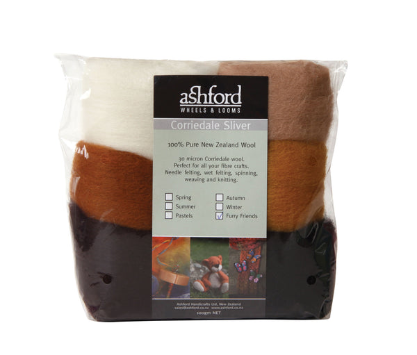 Corriedale wool blend wicks (100 g bag) - Ashford