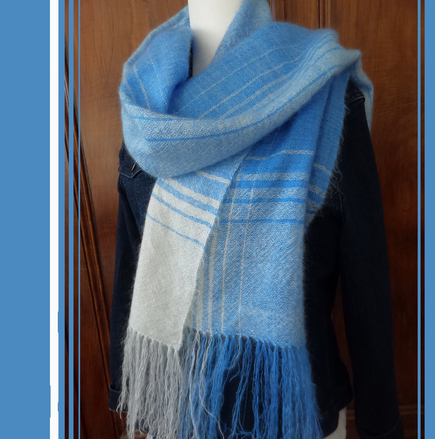 Project: Mediterranean blue stole