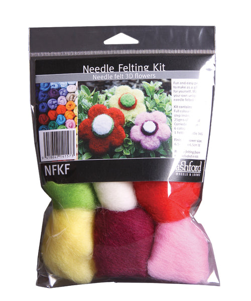 Needle Felting Kit - Flowers - Ashford
